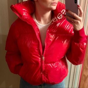 Jackets & Coats - New glossy red puffer bomber